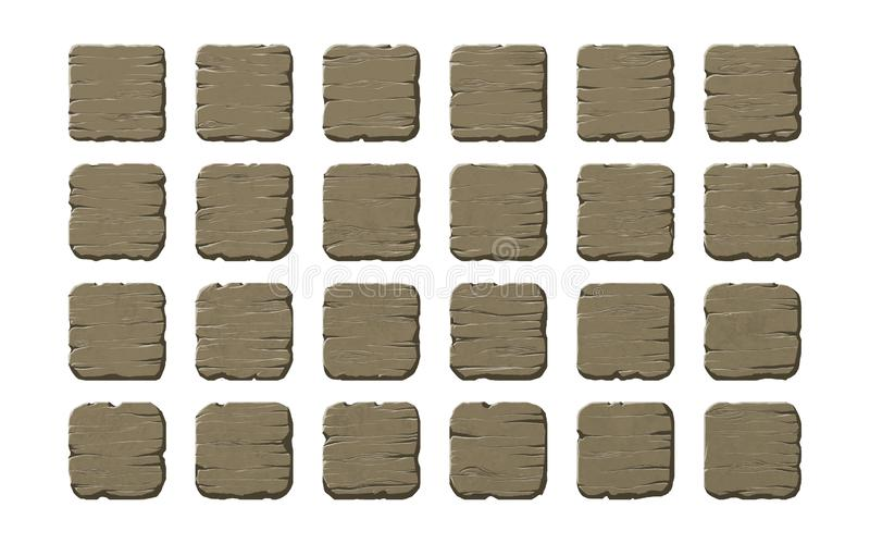 Set of wooden panels royalty free stock photography
