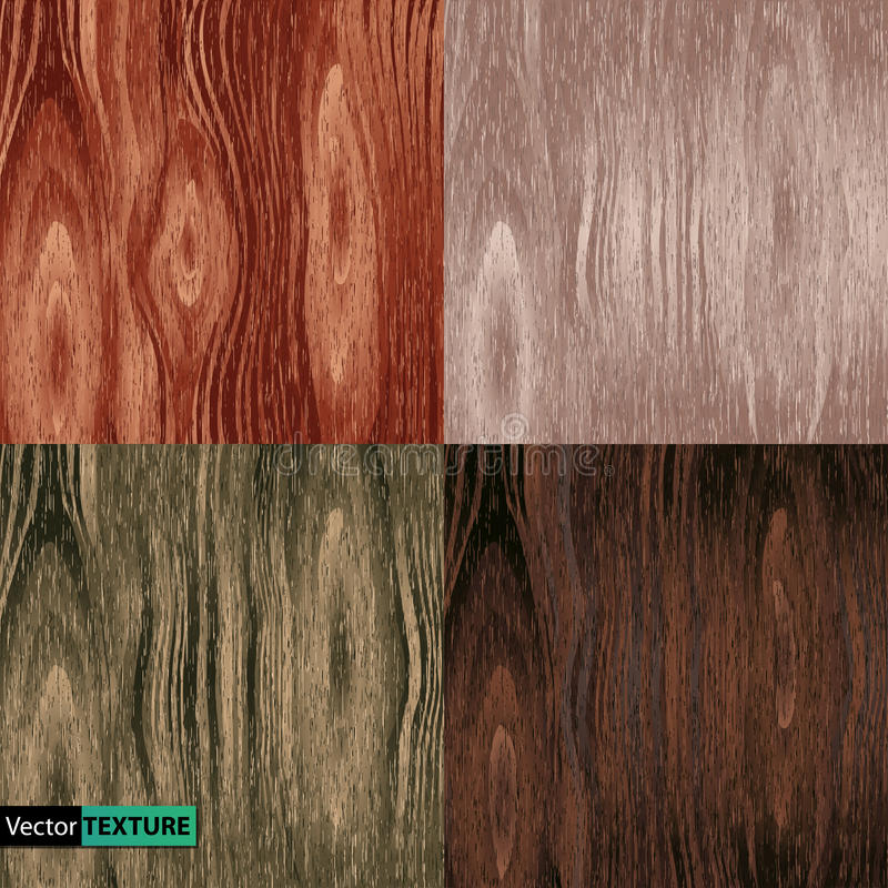 Set of wooden textures stock illustration