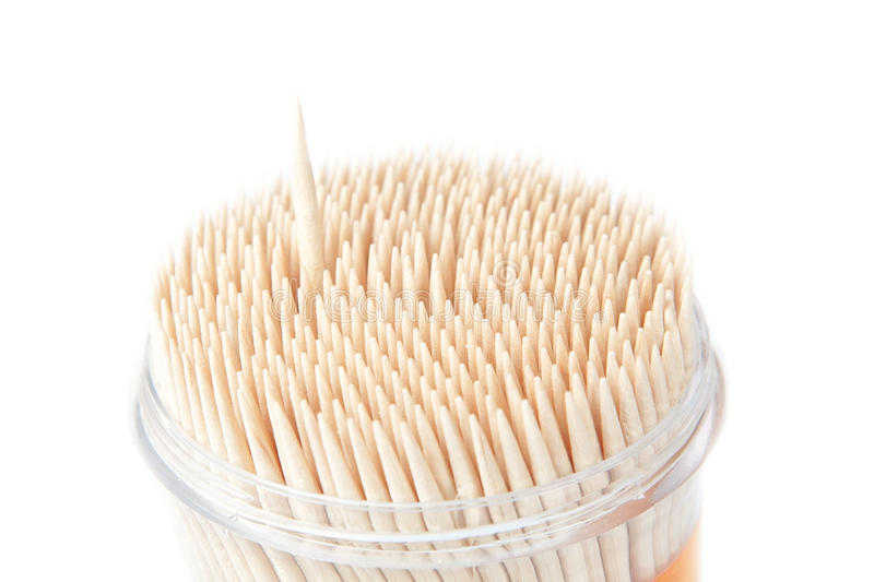 Download A Set Of Wooden Toothpicks, An Isolated. Stock Photo - Image: 25617952