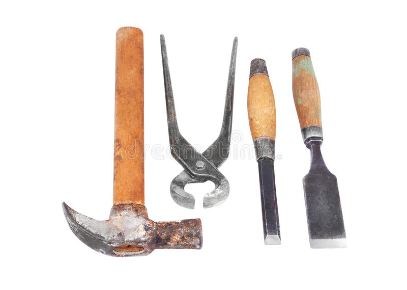 Set of work tool stock image