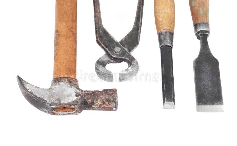Set of work tool stock photo