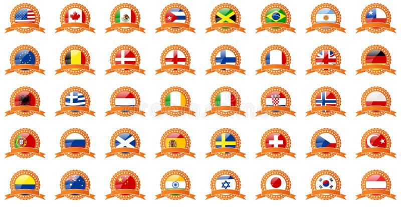 Set Of World Flags Stock Photo