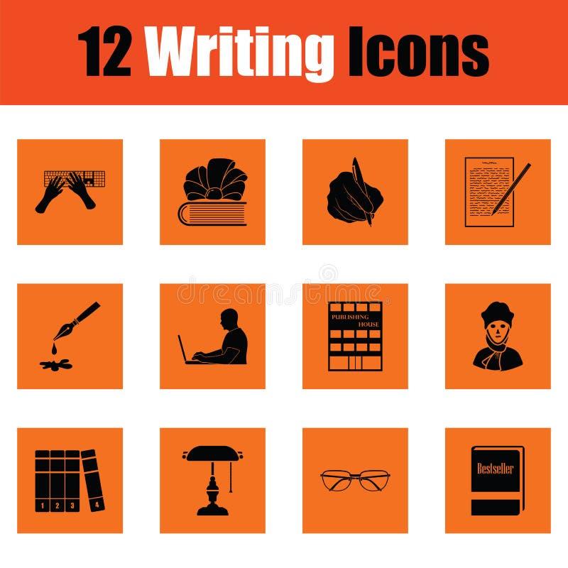 Set writing ikony ilustracja wektor