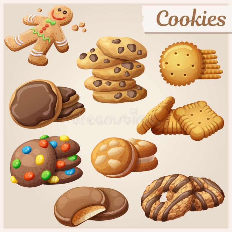 Set wyśmienicie ciastka również zwrócić corel ilustracji wektora ilustracja wektor