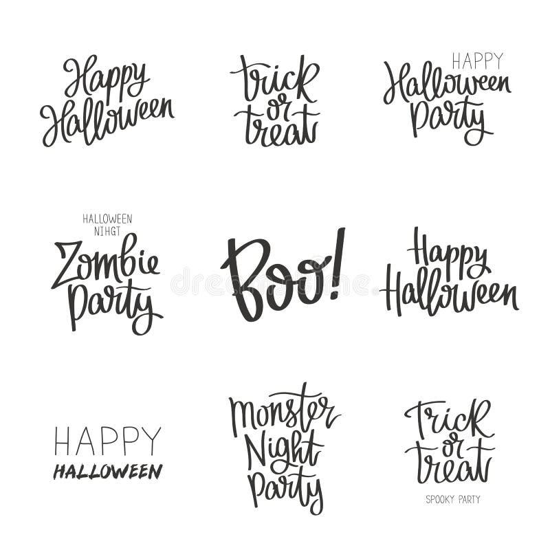 Set wycena na Halloween obrazy stock