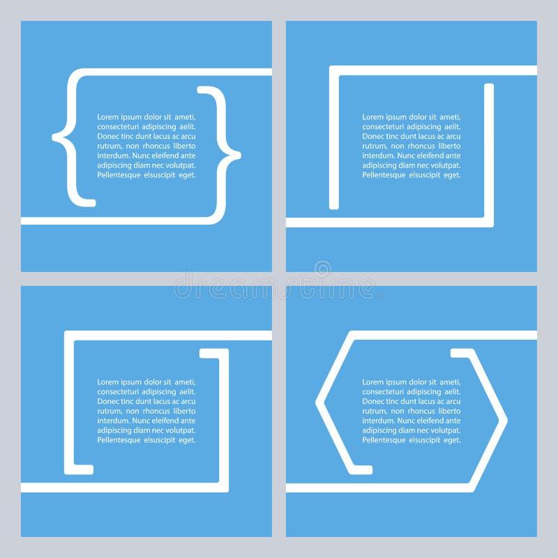 Set wycena teksta bąble Wycena pustego miejsca szablon royalty ilustracja