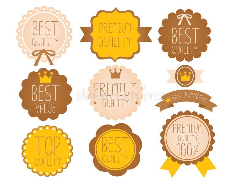 Set wysokiej jakości odznaka royalty ilustracja