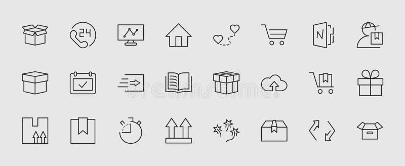 Set wysyłka wektoru linii ikona Ja zawiera symbole i więcej boksować, domowy Editable ruch 32x32 piksle ilustracji