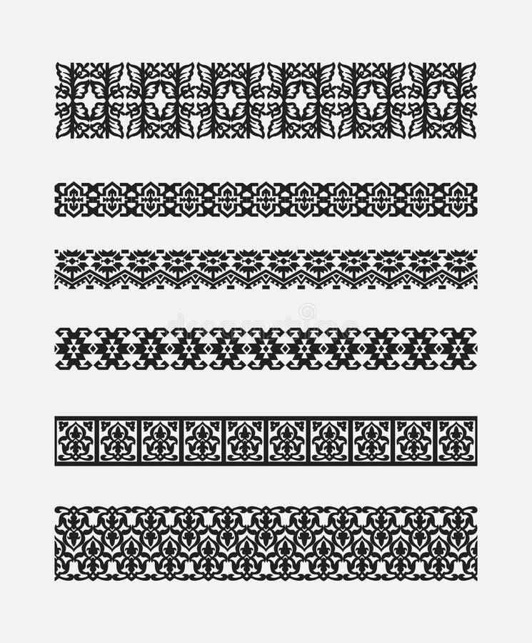 Set wzory dla granic ram ilustracji