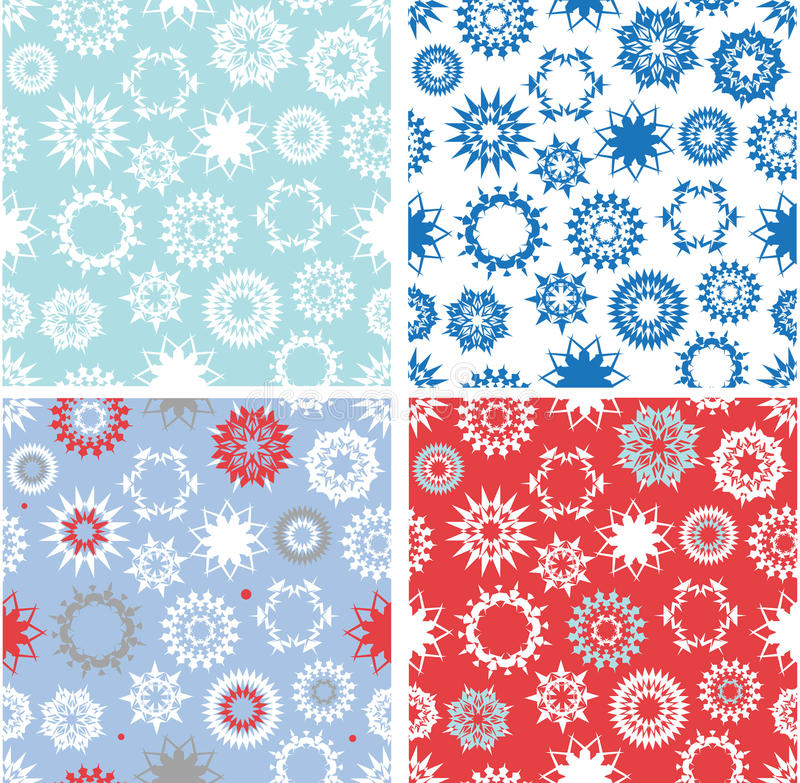Set of xmas seamless patterns royalty free stock photography
