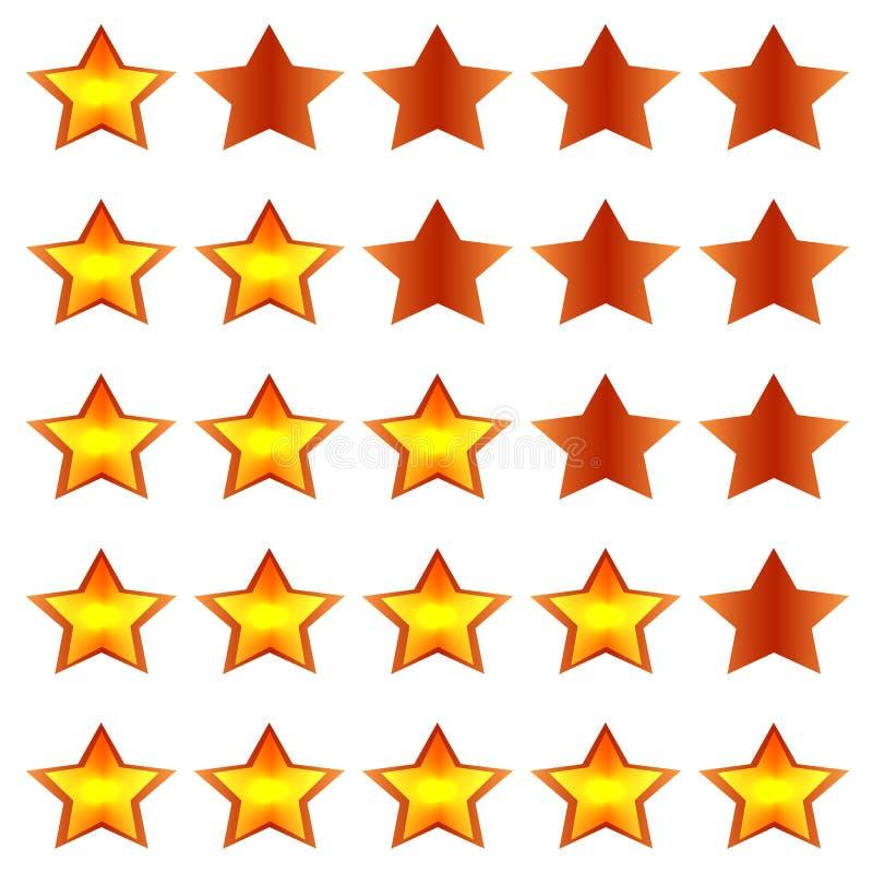 Rating stars royalty free stock photos
