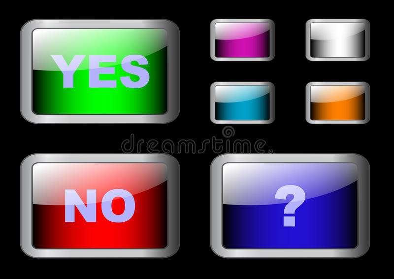 Download Set Of Yes/No Buttons. Eps10 Vector. Stock Vector - Illustration of design, push: 15156897