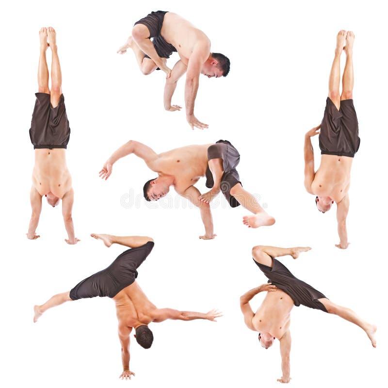 Download Set Of Young Man Acrobatics Gymnastic Stock Image - Image: 25330461