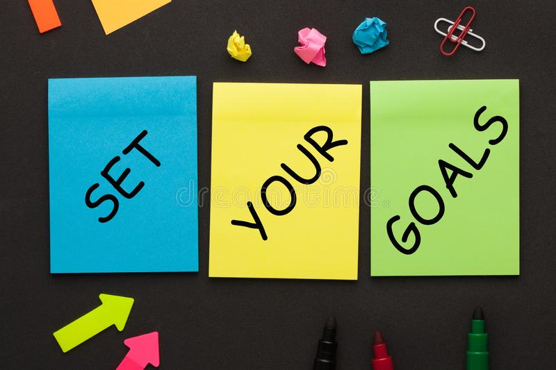 Set Your Goals stock images