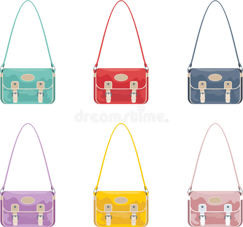 Download Set of youth bags stock vector. Image of violet, teenagers - 25871539