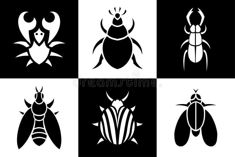 Set z małymi zwierzętami royalty ilustracja