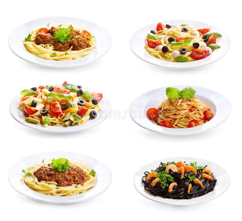Set z różnym makaronem i spaghetti obrazy stock