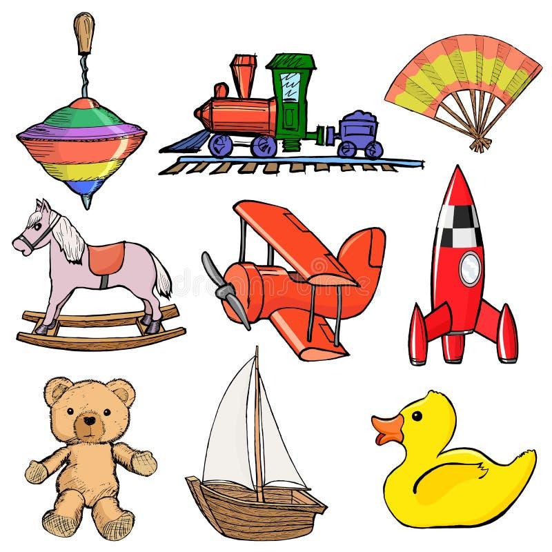 Set zabawki royalty ilustracja
