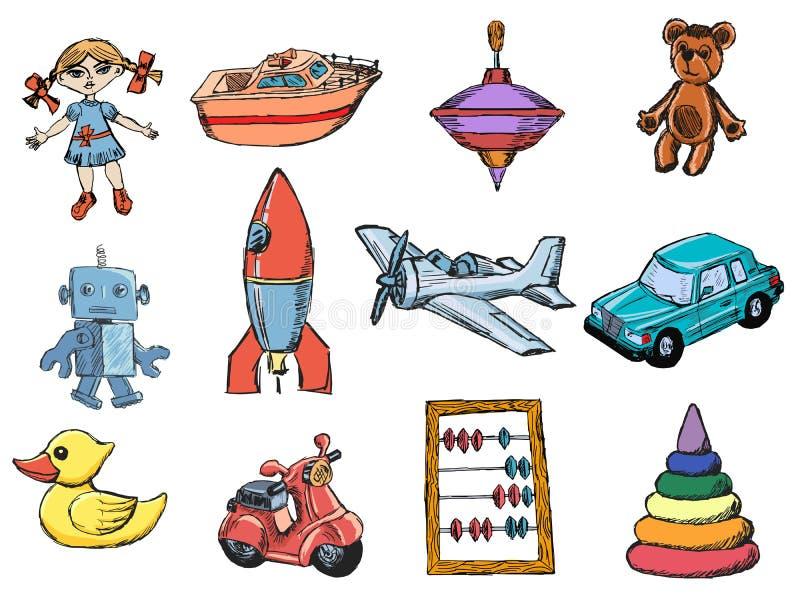Set zabawki ilustracji