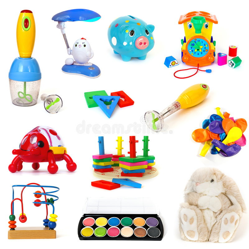 set zabawki obrazy royalty free