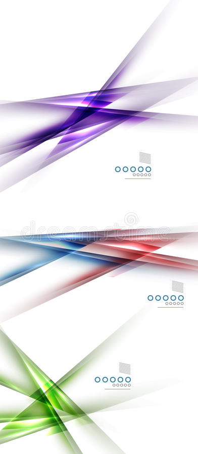 Set zamazane koloru cienia linie projektuje elementy ilustracji