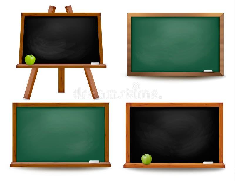Set zarządów szkoły blackboards. ilustracja wektor