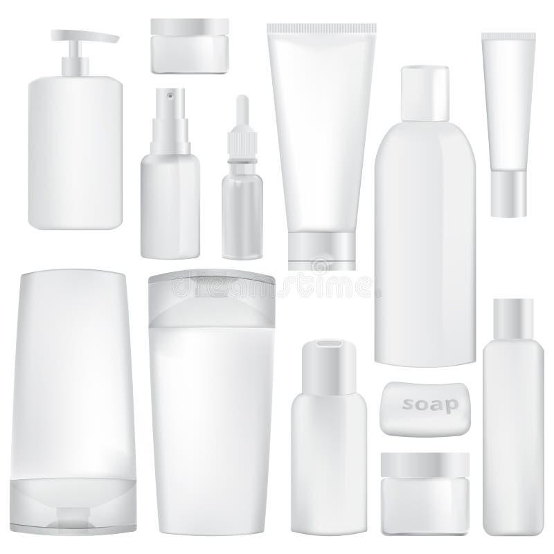 Set zbiorniki dla kosmetyków ilustracja wektor