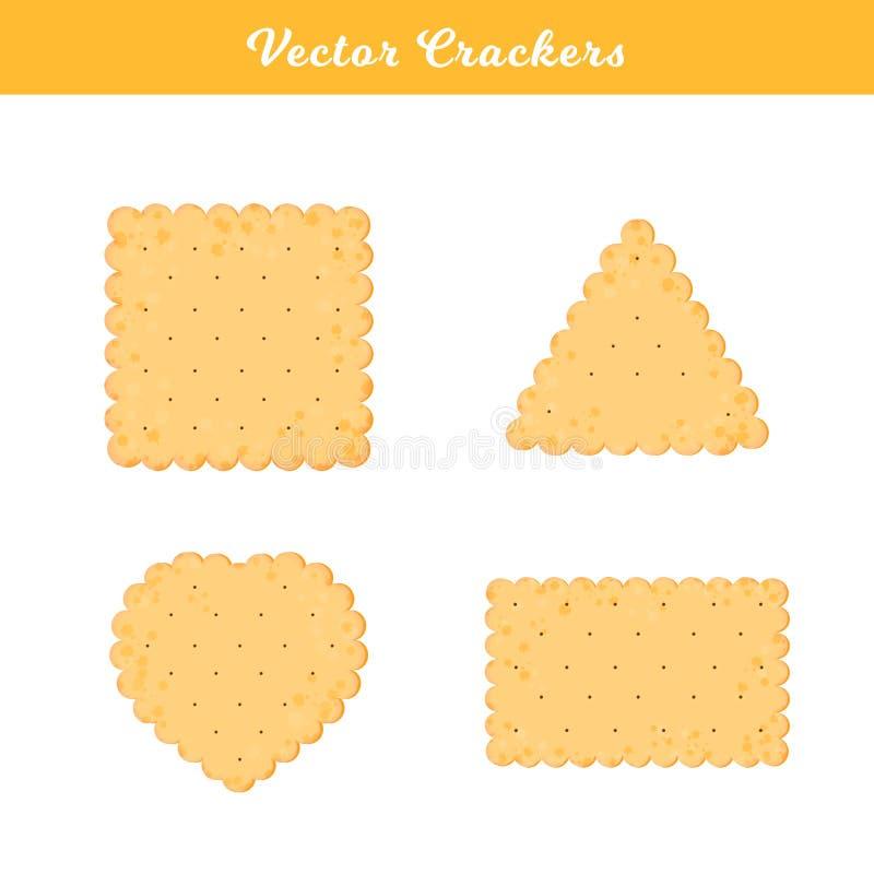 Set zdrowie krakersy ciastko odizolowywaj?cy ilustracji