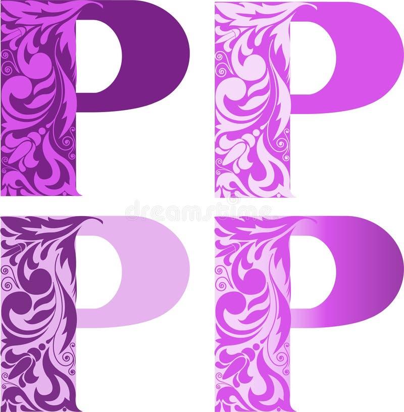 Set Zeichen P vektor abbildung