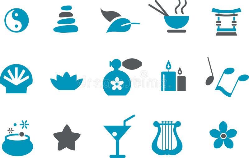 set zen för symbol stock illustrationer