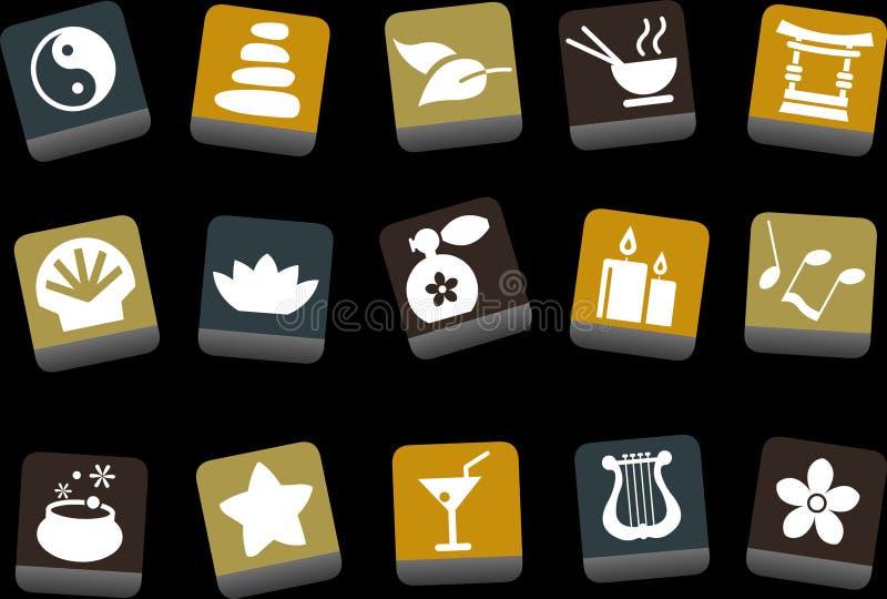 set zen för symbol royaltyfri illustrationer