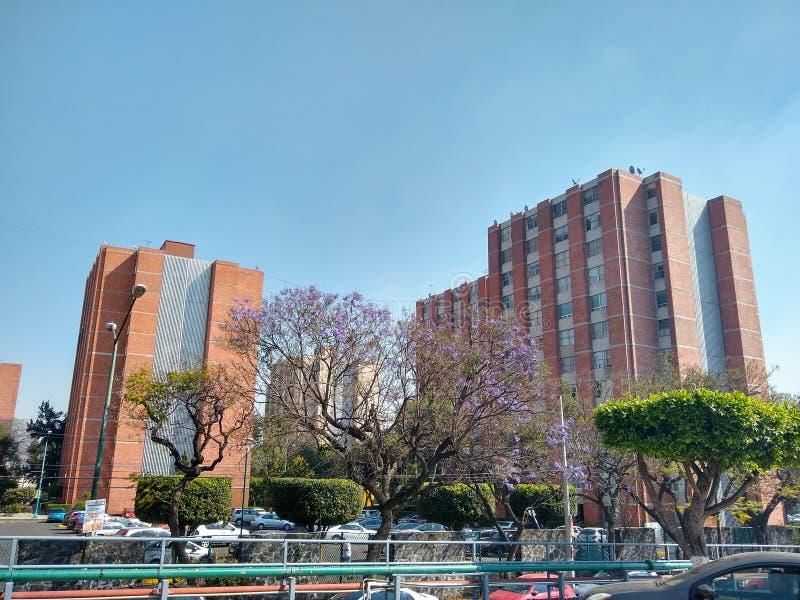 Set zespoły mieszkaniowi w Meksyk zdjęcie royalty free