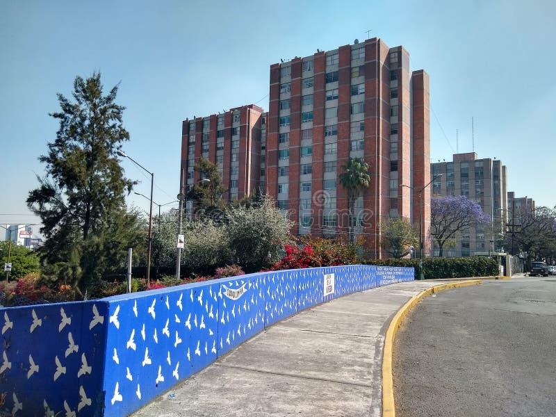 Set zespoły mieszkaniowi w Meksyk zdjęcia stock