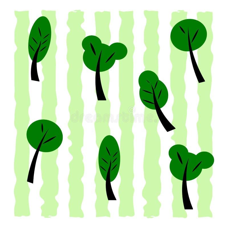 Set Zieleni drzewa Odosobneni elementy dla projekta Lasowe ro?liny obrazy stock