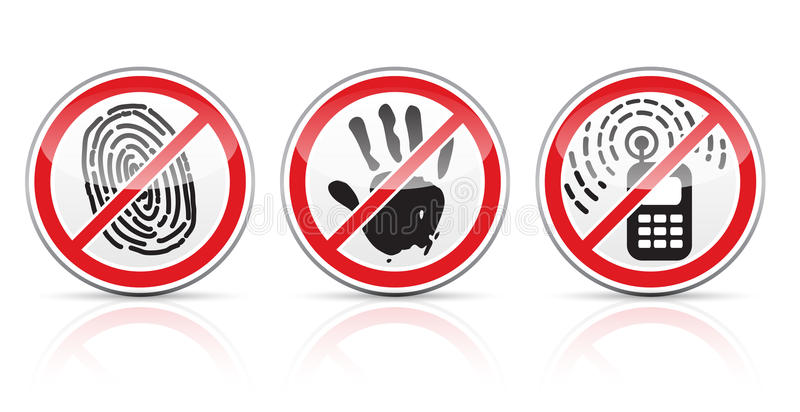 Set znak ograniczające ikony ilustracji