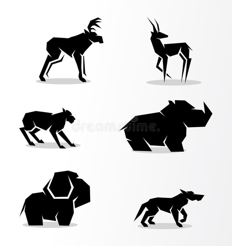 Set zwierzęta royalty ilustracja