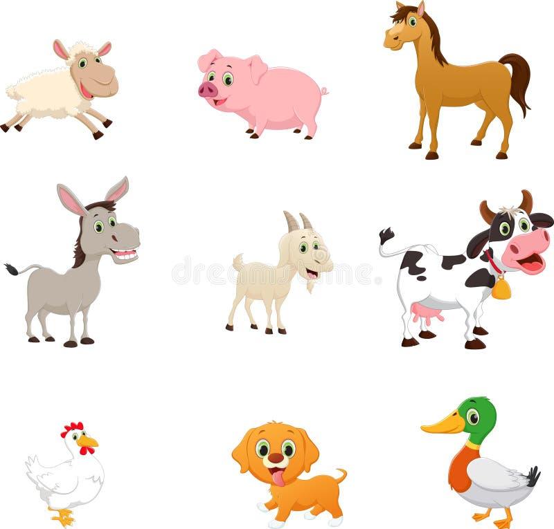 Set zwierzęta gospodarskie kreskówka ilustracja wektor