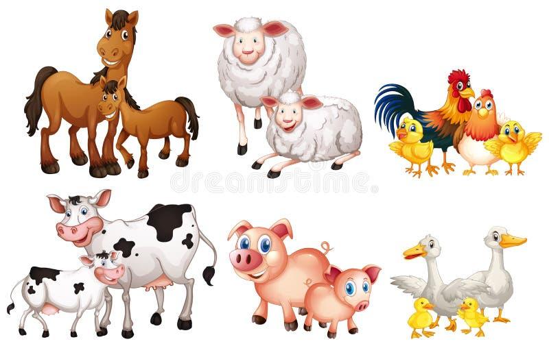 Set zwierz?ta gospodarskie ilustracja wektor