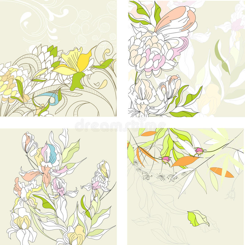 Set1 with floral background