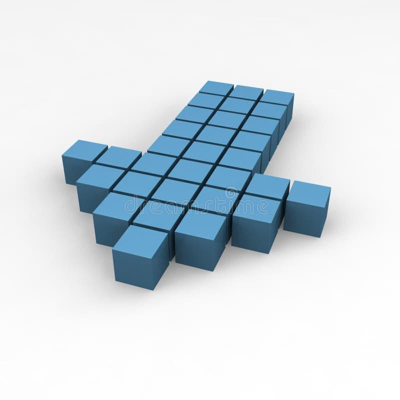 Download Seta ilustração stock. Imagem de elemento, cubo, raio, maciço - 372536