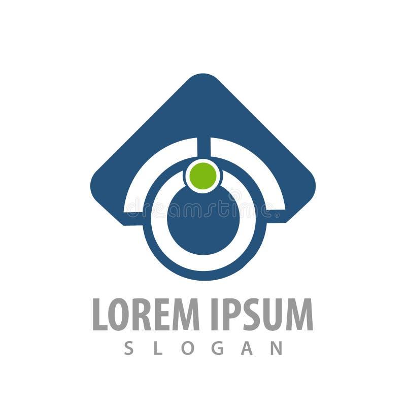 seta abstrata acima do projeto de conceito azul do logotipo da tecnologia do círculo Vetor gráfico do elemento do molde do símbol ilustração stock