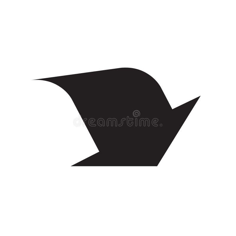 Seta acima do ?cone Isto arredondou o símbolo liso é tirado com cor preta em um fundo branco ilustração do vetor