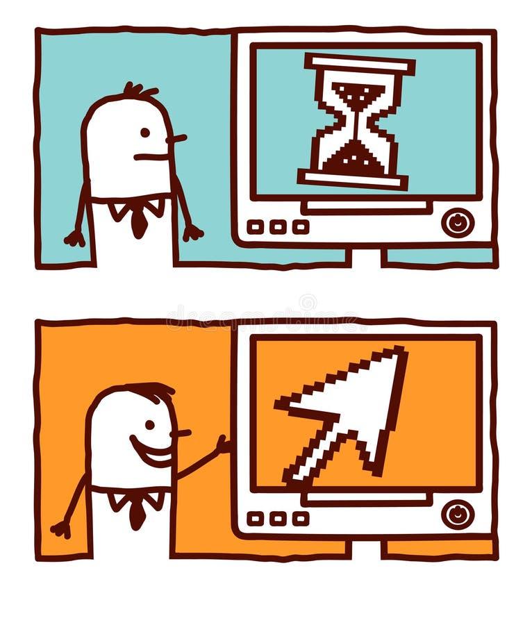 Seta & hourglass do pixel ilustração royalty free