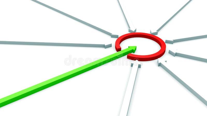 A seta causou um crash o anel ilustração do vetor
