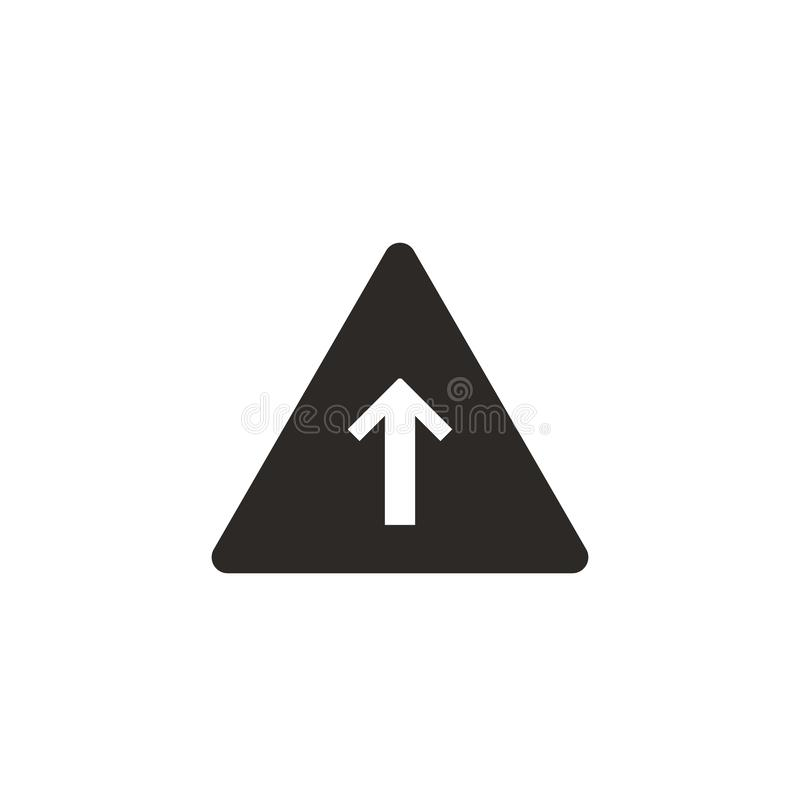 A seta, cresce, ícone do vetor da pirâmide Ilustra??o simples do elemento do conceito de UI A seta, cresce, ícone do vetor da pir ilustração do vetor