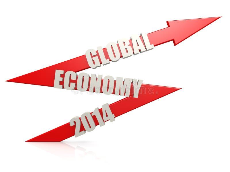 Seta 2014 da economia global ilustração do vetor