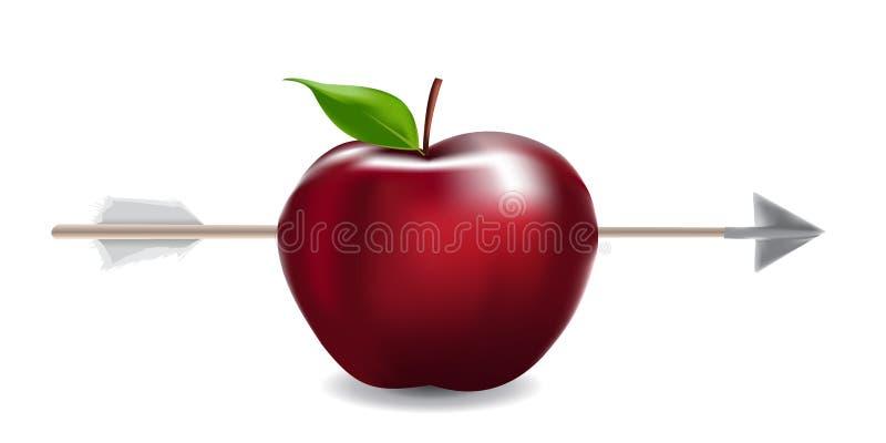 Seta de Apple ilustração stock