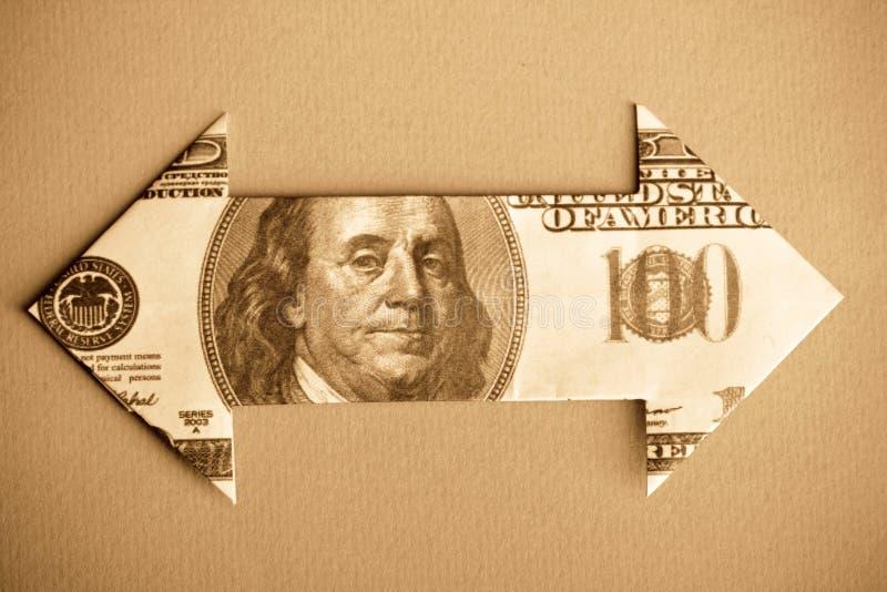 Seta de Bill de dólar foto de stock royalty free
