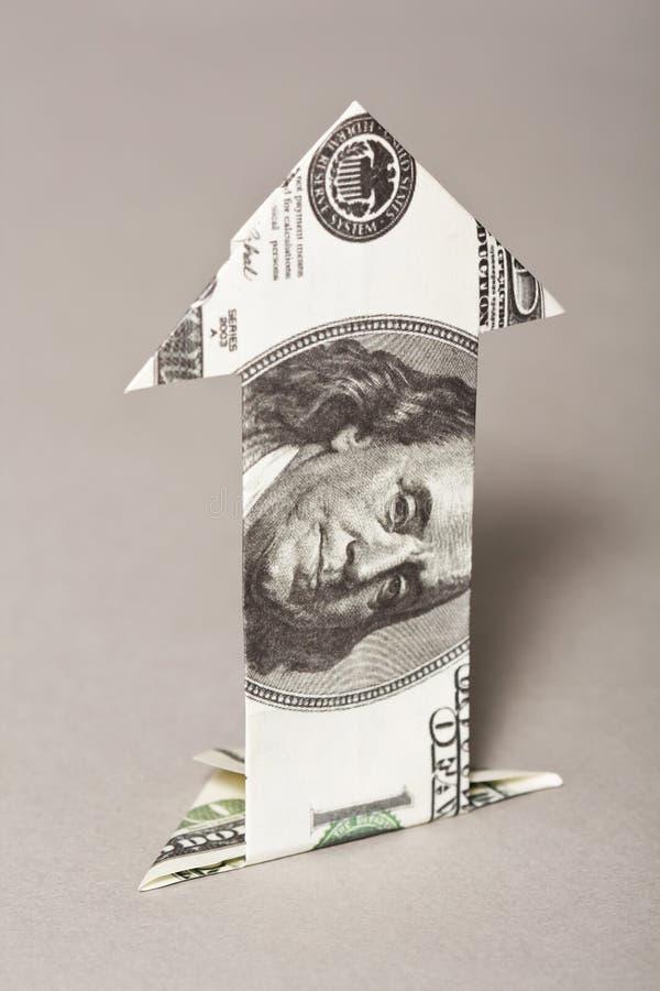 Seta de Bill de dólar fotos de stock royalty free