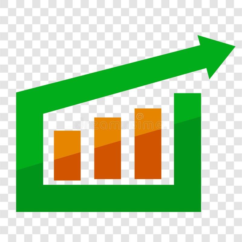A seta de Cirle e a barra Logo Business ou o investimento Shinning simples orientaram incorporado ilustração do vetor